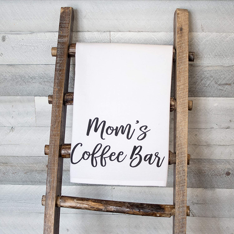 Moms Coffee Bar premium tea towel