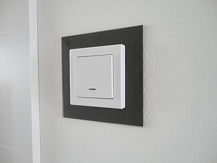 GEA - Paneles para interruptor, marco decorativo, efecto de cristal lacado, apto para