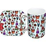 Selina-Jayne Gnomes Limited Edition Designer Mug and Coaster Gift Set