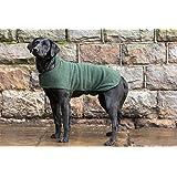 63ed47bbac23a1 Dog & Field™ doppelseitiger Hundemantel mit Fleece- und Mikrofaserseite,  Trockenjacke für Haustiere,