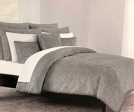 tahari duvet cover set soft luxurious velvet bedding 3 piece solid with textured medallion pattern - Velvet Bedding