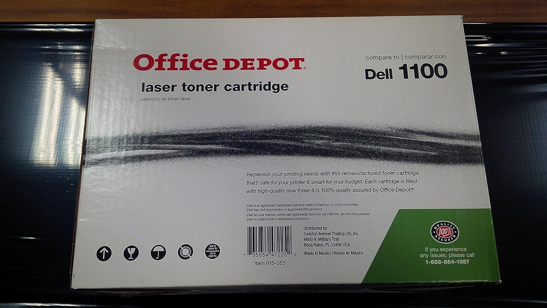 For Dell J9833  Black Toner Cartridge 3K for Dell 1100 1110 Laser Printers