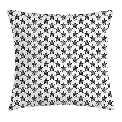 98b7f0f3f731d Riolaops Tattoo Throw Pillow Cushion Cover, Pattern with Sea Turtles in Maori  Style Ethnic Polynesian