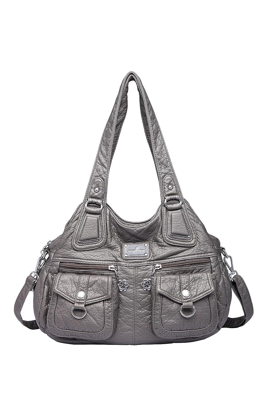 Amazon.com: Angel kiss Women Top-Handle Handbag Zip Closure Tote ...