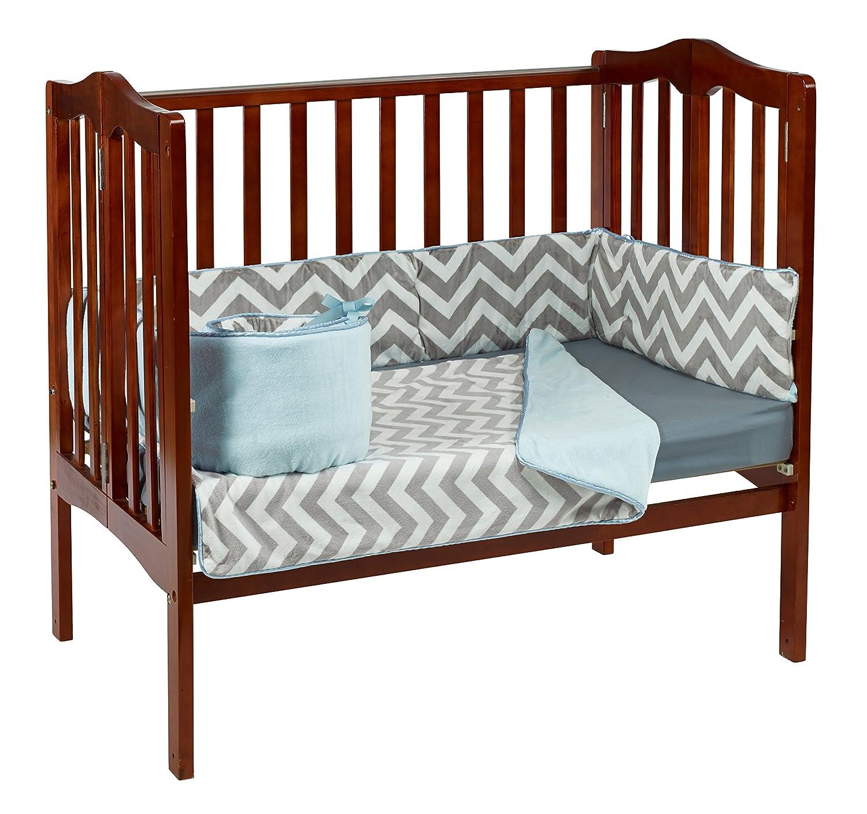 Baby Doll Minky Chevron mini Crib/ Port-A-Crib Bedding, Blue by BabyDoll Bedding   B00KZCRPDS