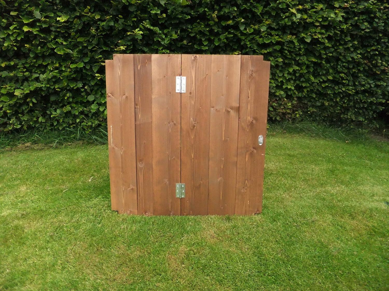 Zwei Holz Komposter Deckeln - 75 cm x 72 cm x 72 cm.