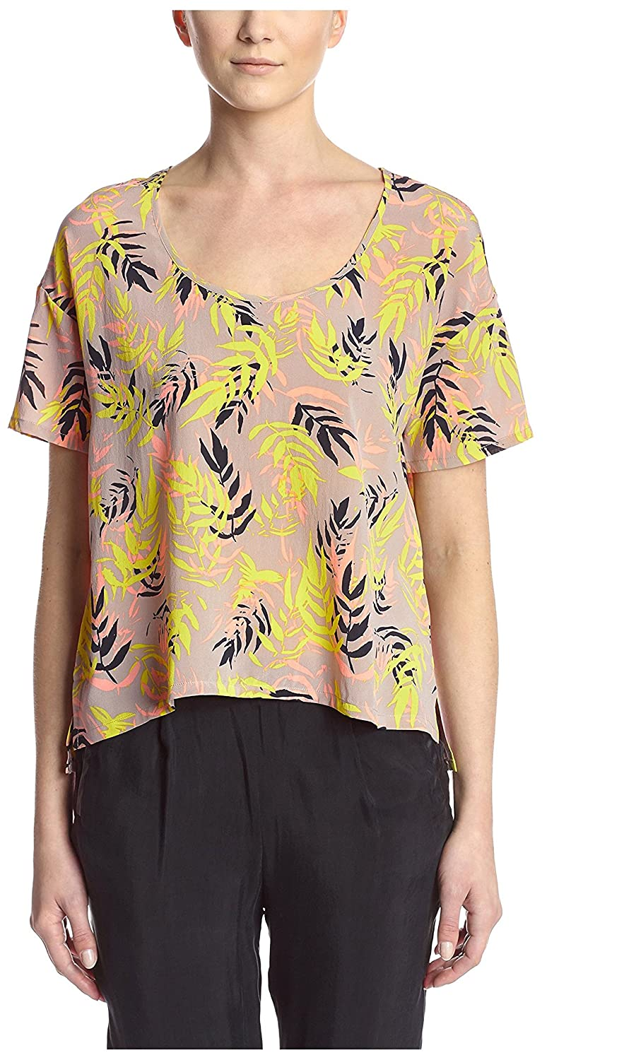 Bella Luxx Womens Relaxed Silk Tee At Amazon Womens Clothing Store