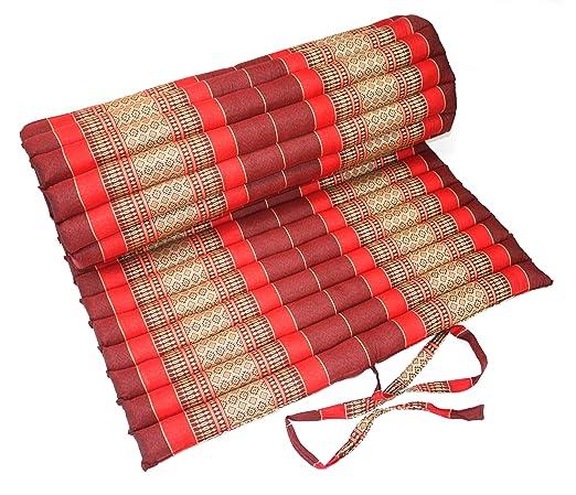 Rodillo de colchón cojín tailandés cadorabo marrón, 78 cm de ...