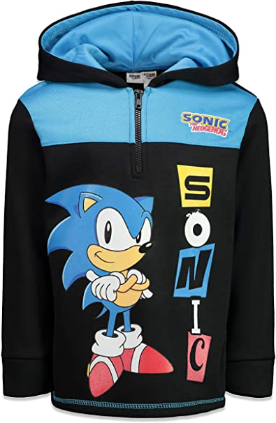 Amazon Com Sega Sonic The Hedgehog Boys Pullover Hoodie With Zipper Clothing