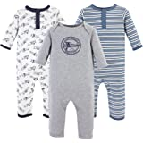 Hudson Baby Unisex Baby Cotton Coveralls and...