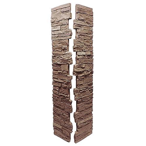 NextStone Slatestone Split Post Cover 8x8x41 Brunswick Brown - Deck Post Covers: Amazon.com