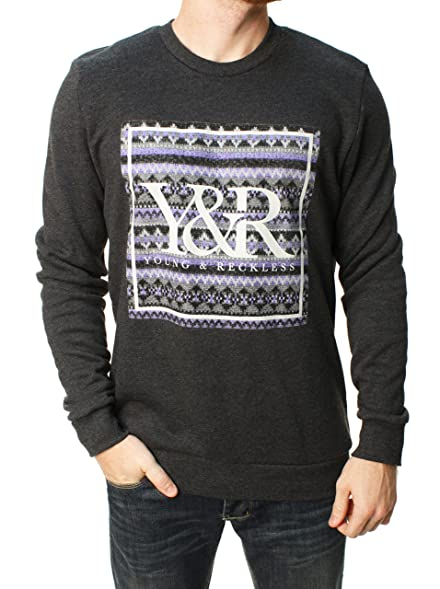 Amazon.com: Young & Reckless Men's Fair Isle Trade Pullover ...