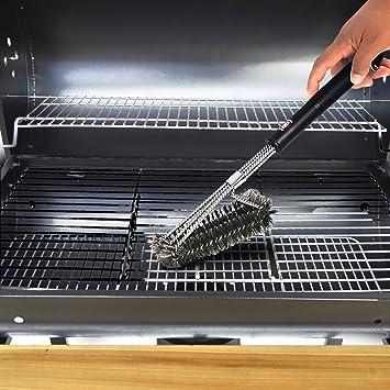 Grill Brush barbacoa accesorios | resistente de acero inoxidable barbacoa espátula de limpieza de herramientas con