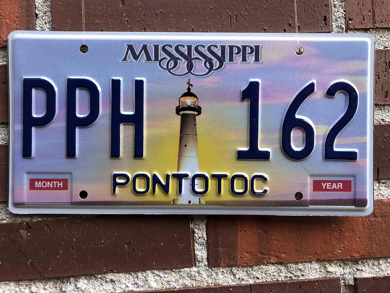 Amazon.es: Desconocido Matrícula Decorativa Americana (Estados Unidos) Original Estado de Mississippi Retirada de la Circulación Año 2007