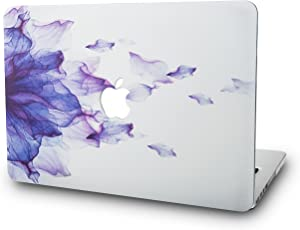 "KECC Laptop Case for MacBook Air 13"" Plastic Case Hard Shell Cover A1466/A1369 (Purple Flower)"