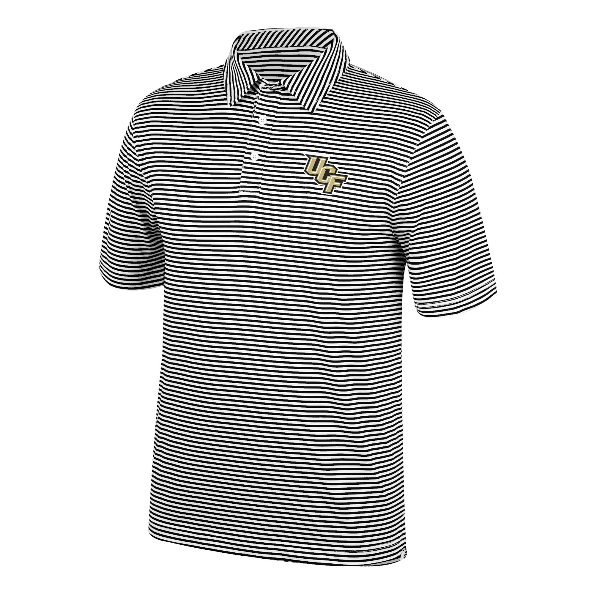 Top of the World NCAA Men's Central Florida Golden Knights Team Color Stretch Bunker Polo Black Small