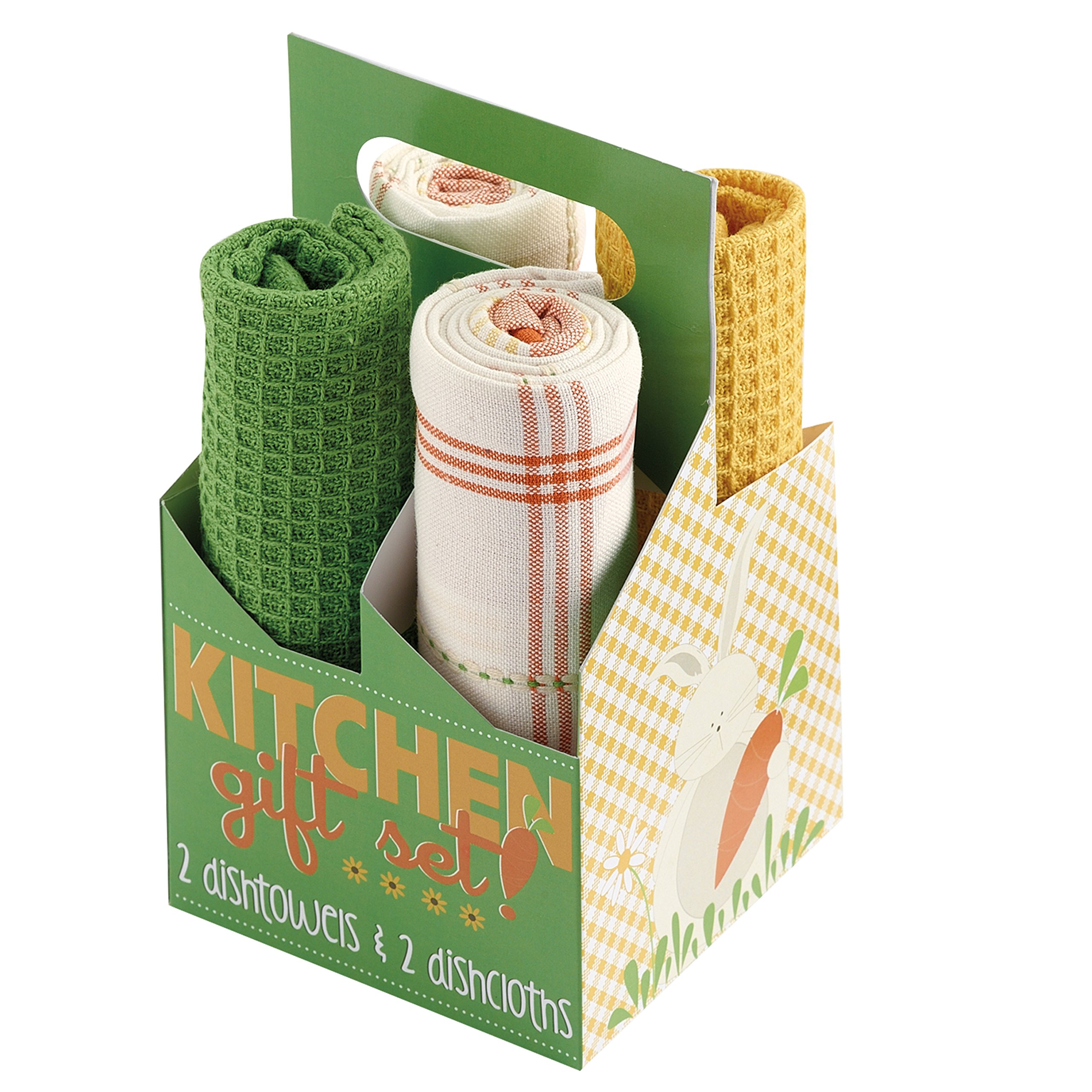 DII Cotton Dish Towels 18x28, Set of 4, Kitchen Gift Set, Drying and Cleaning Bar Towels for Everyday Cooking and Baking-Spring Garden