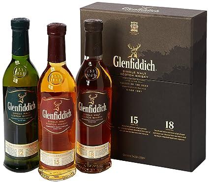Glenfiddich Malt Scotch Whisky Taster Gift Pack, 3 x 20 cl: Amazon ...