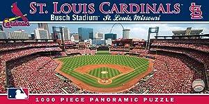 MasterPieces MLB St. Louis Cardinals Stadium Panoramic Jigsaw Puzzle, Busch, 1000 Pieces