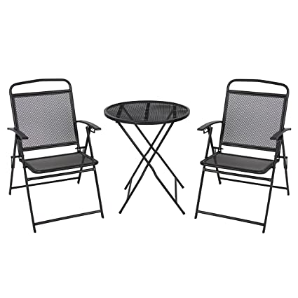 Best Choice Products 3-Piece Adjustable Foldable Compact Outdoor Bistro Set w/Reclining Chairs  sc 1 st  Amazon.com & Amazon.com: Best Choice Products 3-Piece Adjustable Foldable Compact ...