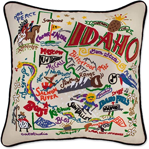 Catstudio Idaho Embroidered Decorative Throw Pillow