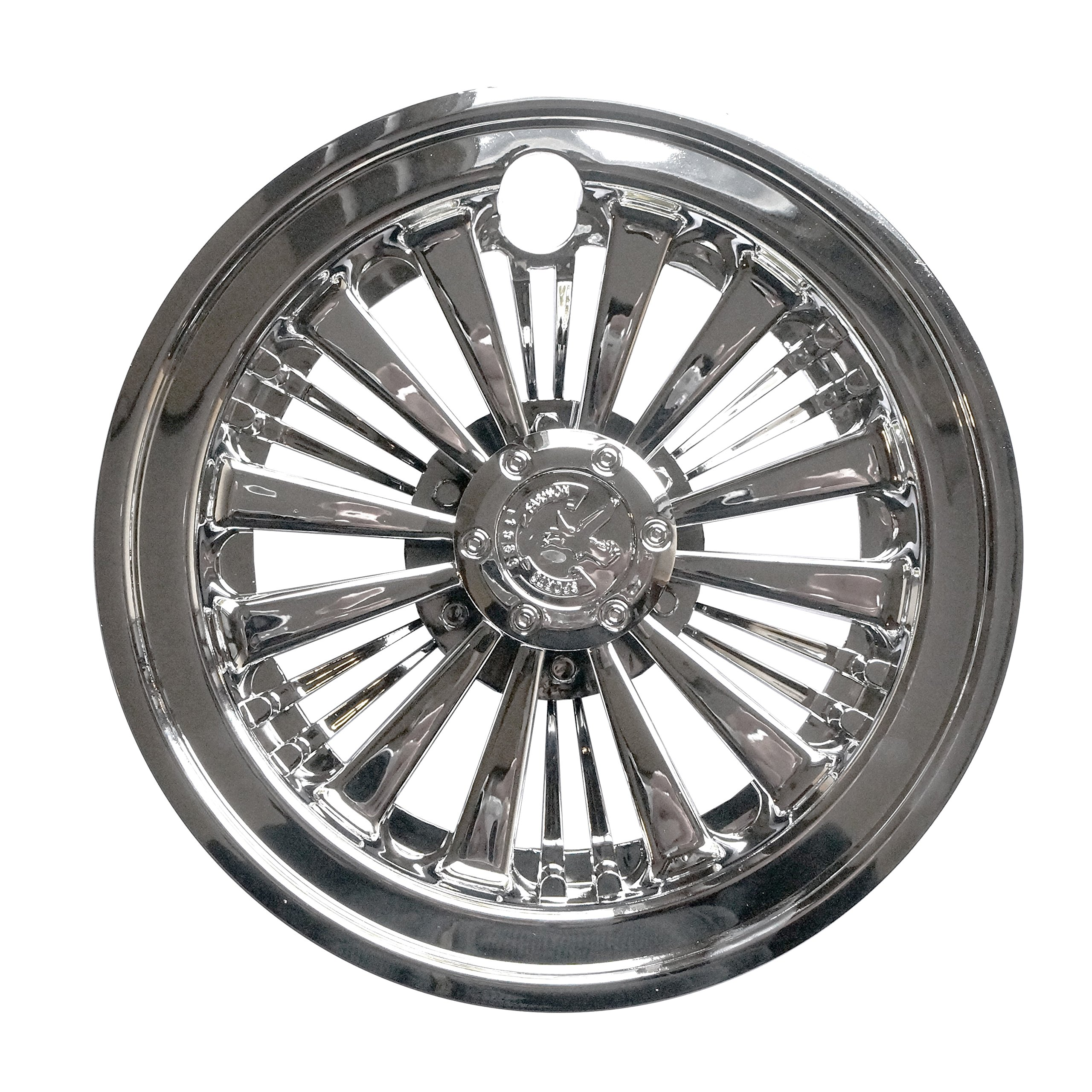 (4) 8'' Chrome Wheel Covers Golf Cart EZ-GO, Club Car