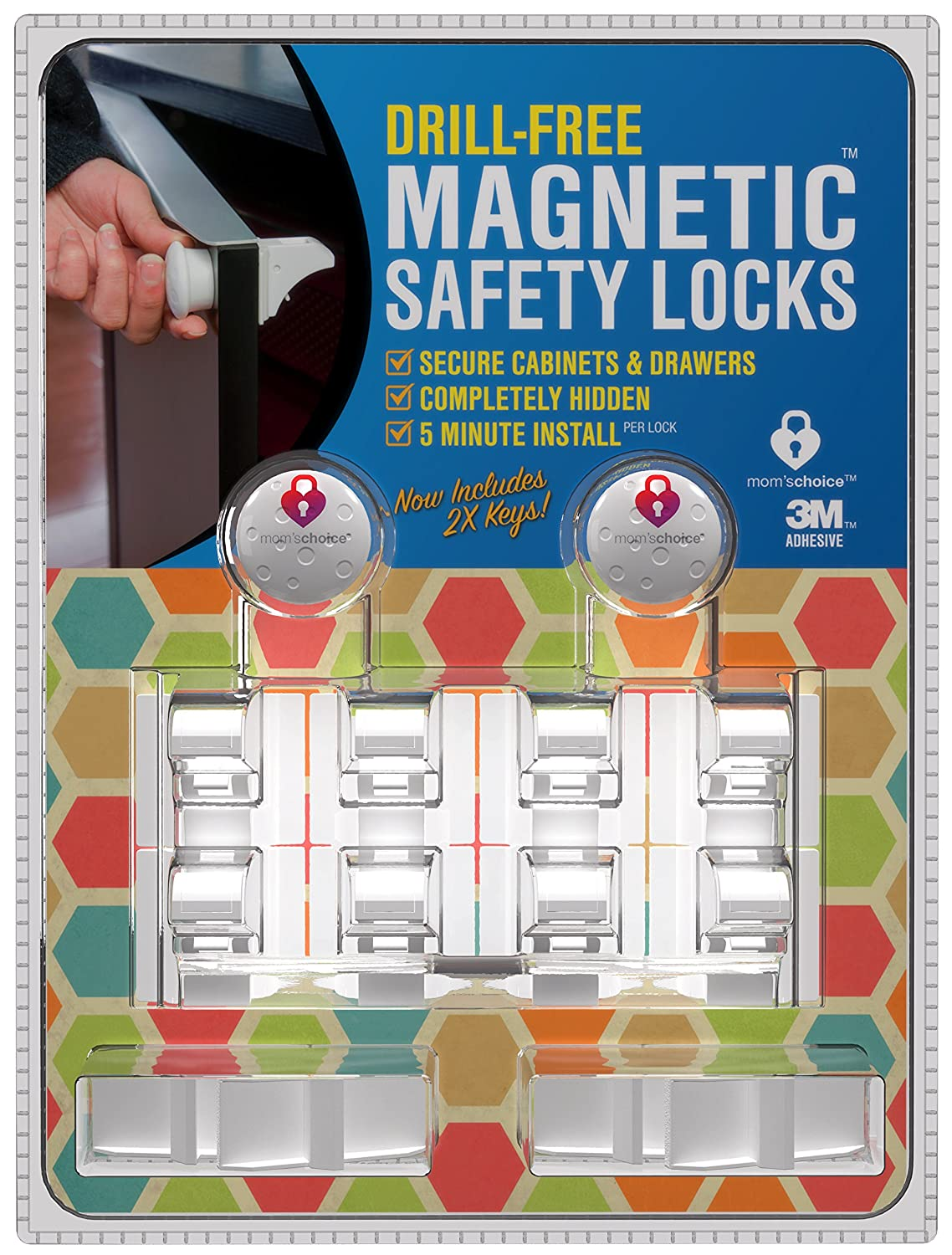Amazon.com : Drill-Free Baby Magnetic Cabinet Locks: 8 Locks + 2 ...