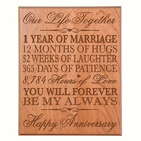 1st Wedding Anniversary Gifts For Her Him Couple Parents Wall Plaque Custom Engraved First