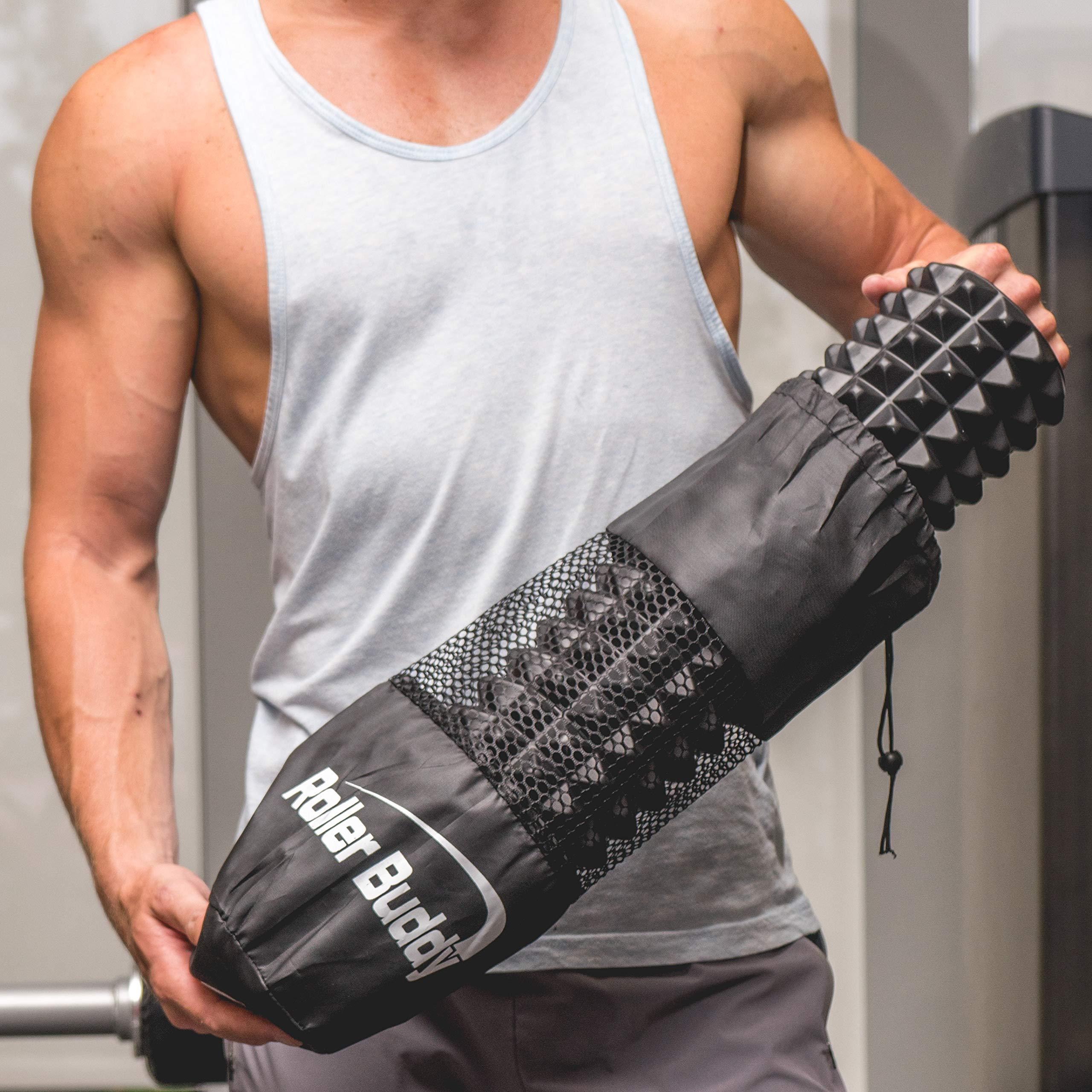 Muscle Massage Foam Roller Kit Back Massager Roller - 4 in 1 Best Trigger Point Massage Tool Lacrosse Roller Ball Massager Stick by Roller Buddy (Image #9)