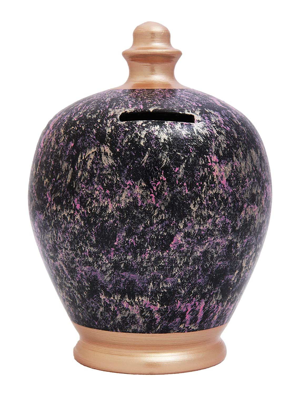 Terramundi Money Pot Purple And Rose Gold Marble Effect C66 Black With Pink