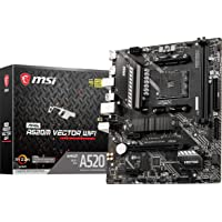 MSI MAG A520M VECTOR WIFI Gaming Motherboard (AMD AM4, DDR4, PCIe 4.0, SATA 6Gb/s, Dual M.2, USB 3.2 Gen 1, HDMI/DP…