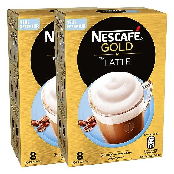 Nescafé Gold Tipo Latte, Löslicher Granos de café, Instant Café, Café, 2 x 8 Raciones, 12311716 _ 02: Amazon.es: Alimentación y bebidas