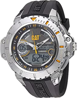 CAT Watches Mens Anadigit Quartz Stainless Steel and Rubber Casual, (Model: