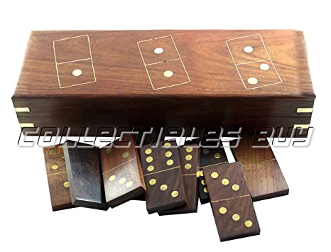 Amazoncom Royal Play Wooden Games Antique Domino Vintage Handmade
