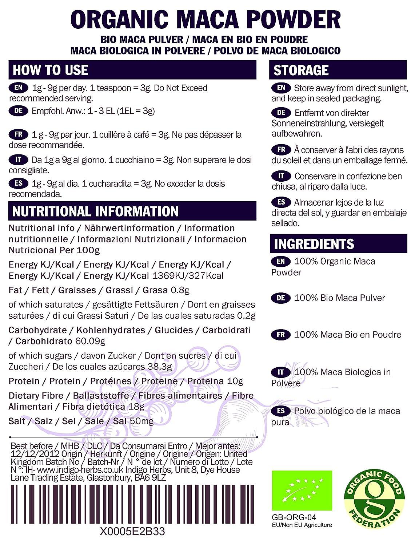 Polvo de Maca ecológico - 1kg (Peruano de certificación ecológica)