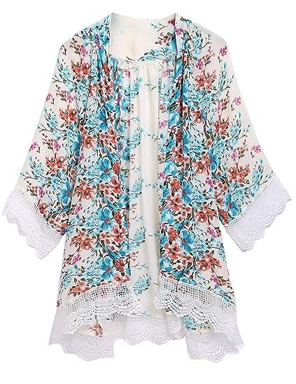 a73ac9de02c Kindsells Asymmetrical Hem Tunic Lace Trim Tunic top Open Stitch top  Cardigans at Amazon Women s Clothing store