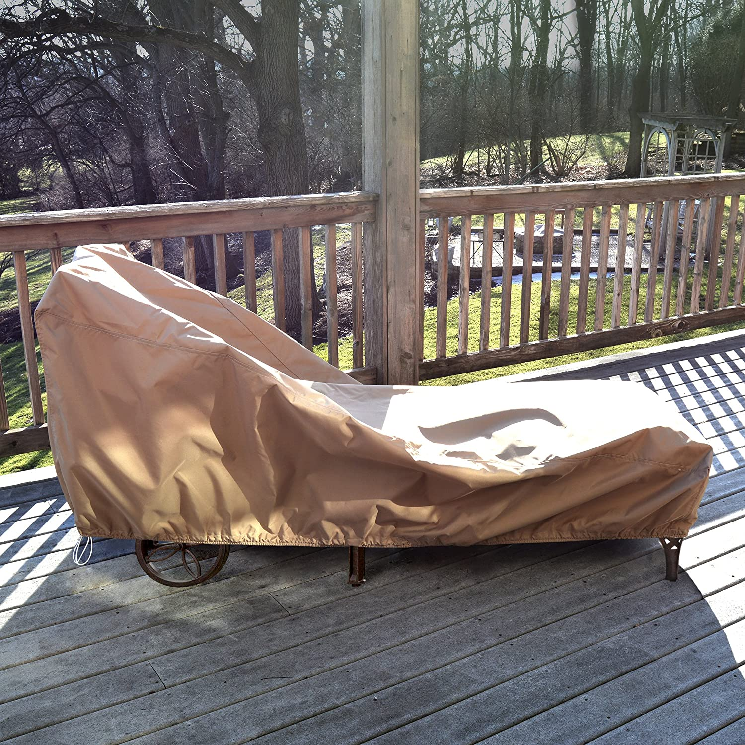 Island Umbrella NU5642 All-Weather Protective Cover for Single Chaise Lounge