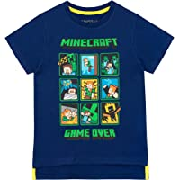 Minecraft Camiseta de Manga Corta para niños Creeper and Steve