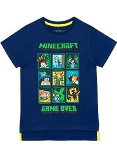 heißes Produkt Rabatt zum Verkauf neue Version Minecraft Zweiwegepaillette Jungen T-Shirt   Graues Oberteil ...