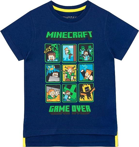 Minecraft Camiseta de Manga Corta para niños Creeper and Steve: Amazon.es: Ropa y accesorios