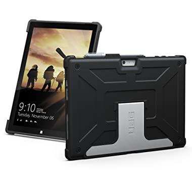 URBAN ARMOR GEAR UAG Microsoft Surface Pro 6/Surface Pro 5th Gen/Surface Pro 4 Feather-Light Rugged [Black] Aluminum Stand Military Drop Tested Case