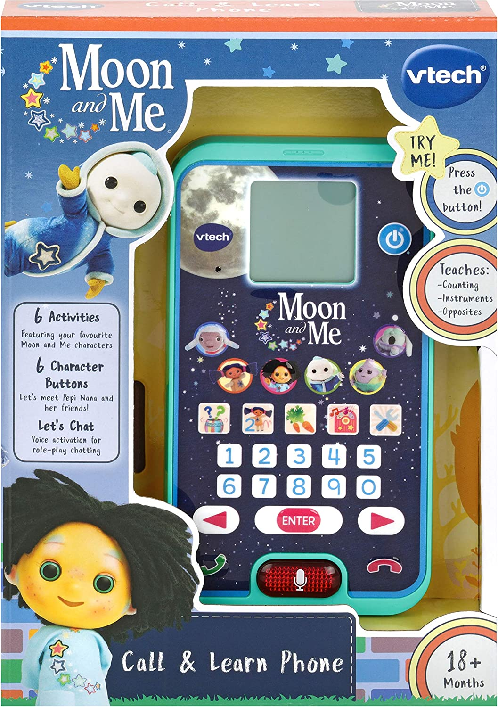 VTech- Moon & Me Smartphone, Multicolor, Box Size: 15 x 21.6 x 4.3cm (525403)