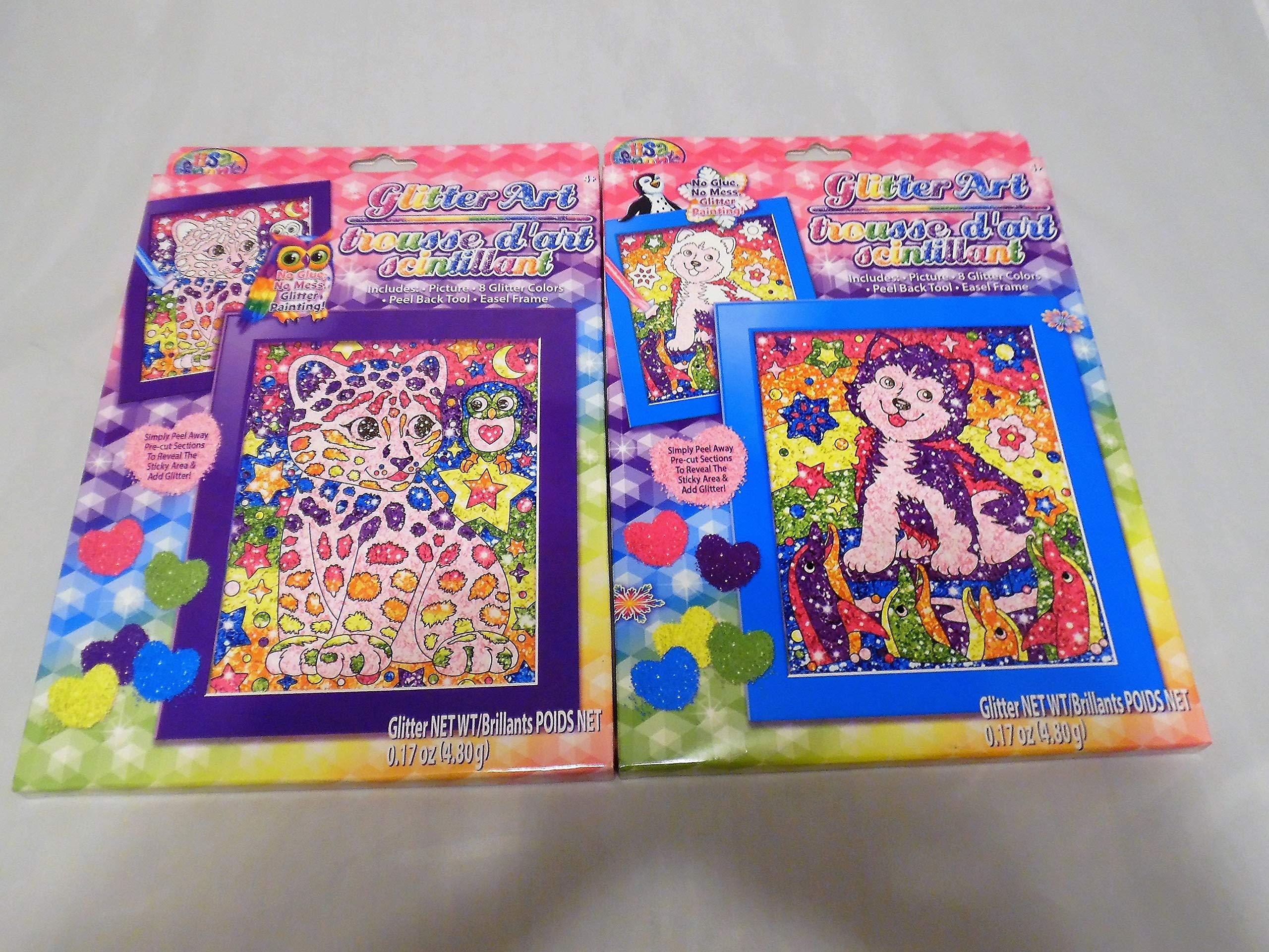 Lisa Frank Glitter Art 2 Pack-Random