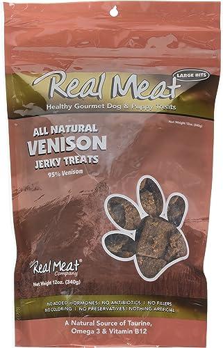 Real Meat Venison Jerky Dog Treats 12 oz