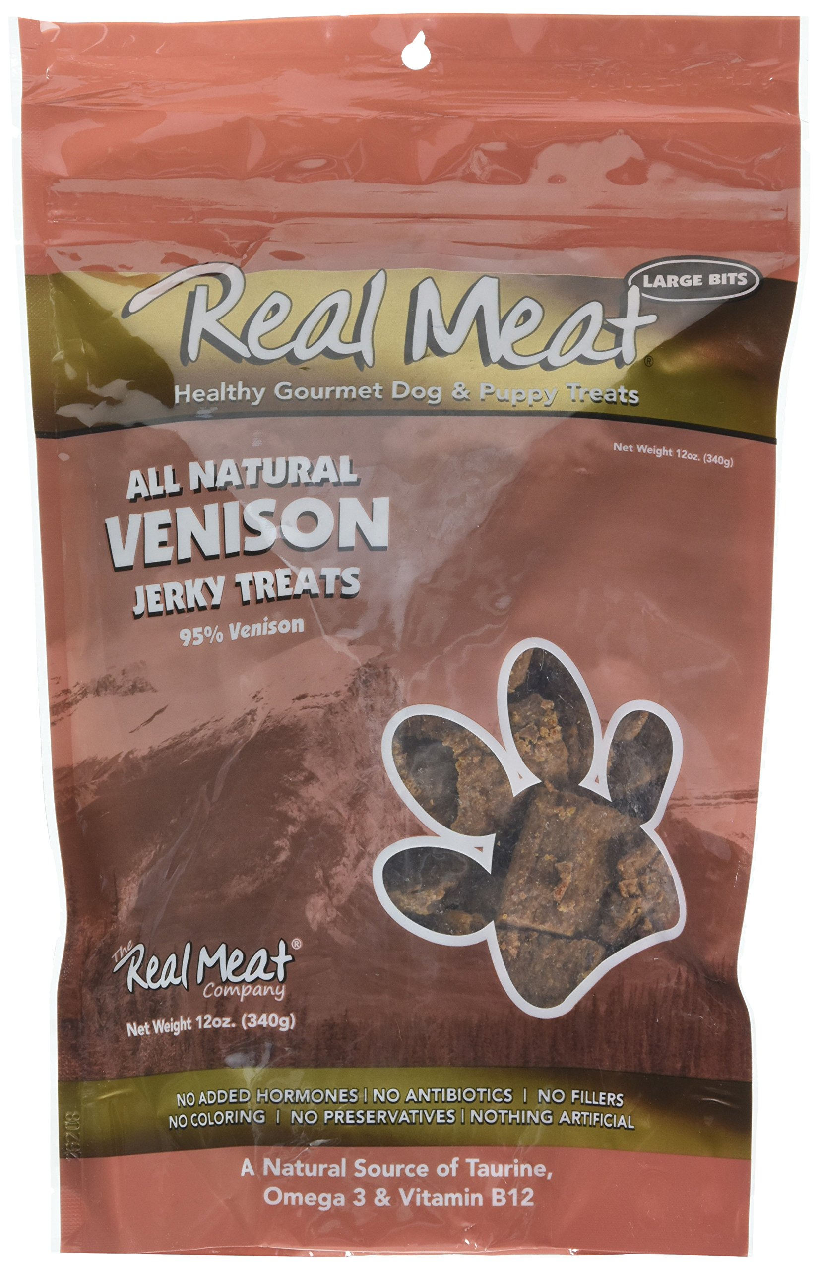 Real Meat Venison Jerky Dog Treats (12 oz)