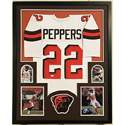 683030666ce Jabrill Peppers Autographed Custom Framed Cleveland Browns Jersey JSA  Witnessed COA
