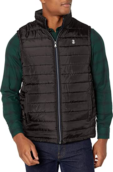 Cromoncent Mens Winter Thick Sleeveless Jacket Coat Quilted Outwear Vest