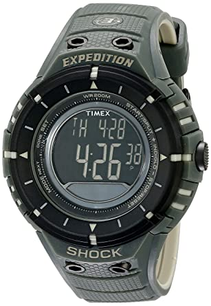 amazon com timex men s t49612 expedition shock digital compass rh amazon com Camo Timex Expedition Field Watch timex expedition digital compass watch instructions