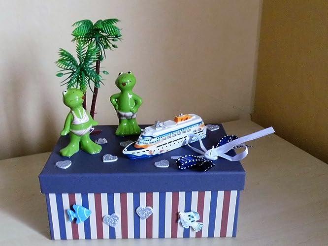 Geldgeschenk Kreuzfahrt Urlaub Strand Palmen Meer Amazon De Handmade