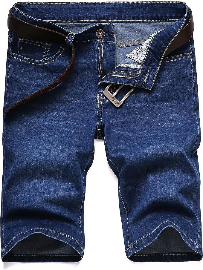 Soojun Mens 5 Pockets Stretch Comfort Denim Shorts